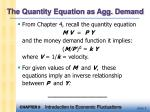 the quantity equation as agg demand
