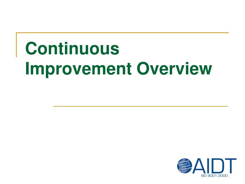continuous improvement overview l.