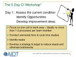 the 5 day ci workshop