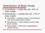 distribution of body fluids
