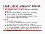 fluid output regulation cont d