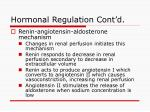 hormonal regulation cont d