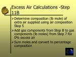 excess air calculations step 11b