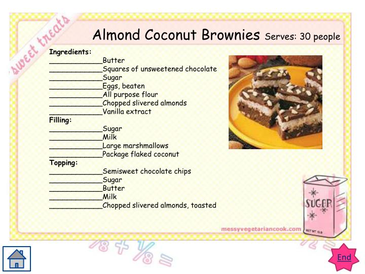 Almond Coconut Brownies