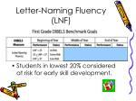 letter naming fluency lnf11