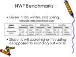 nwf benchmarks