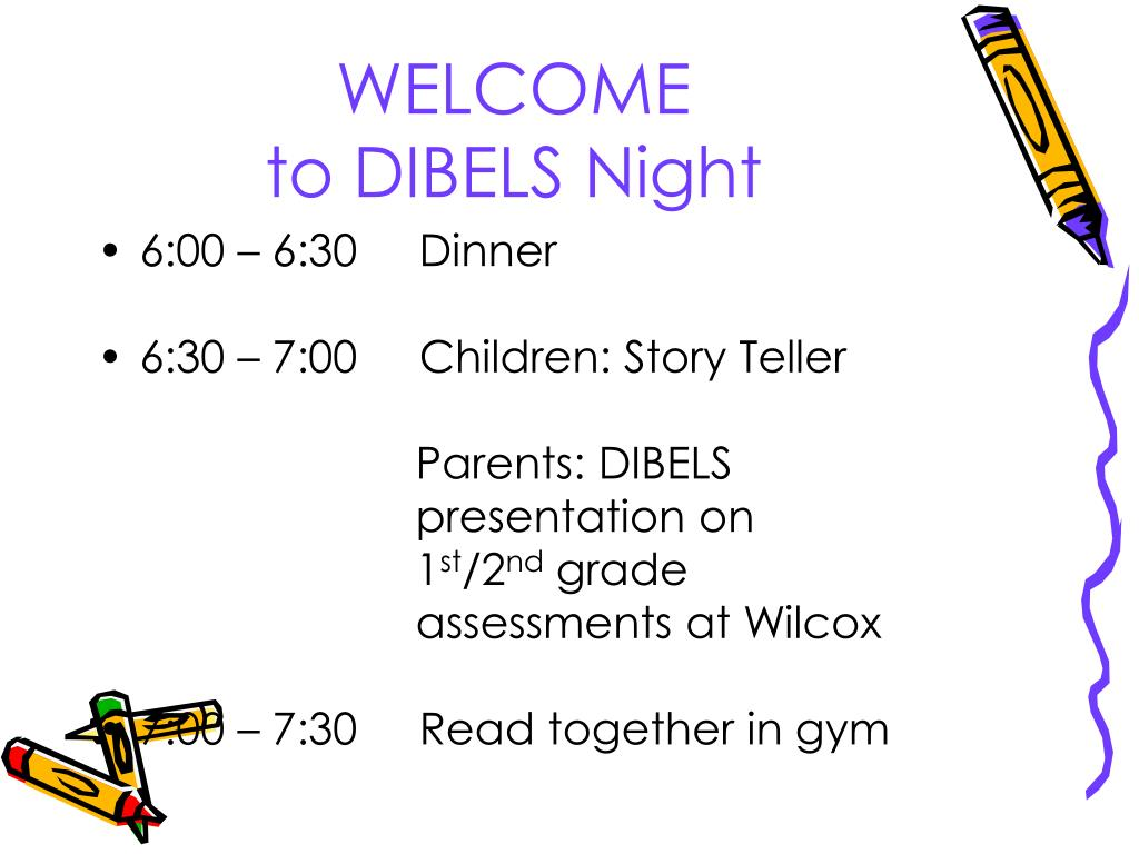 welcome to dibels night l.