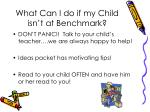 what can i do if my child isn t at benchmark