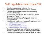self regulation time frame 08