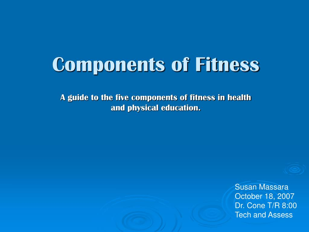 components of fitness l.