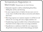temperature regulation in mammals responses to cold stress