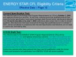 energy star cfl eligibility criteria effective date page 10