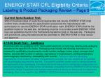 energy star cfl eligibility criteria labeling product packaging review page 9