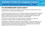 energy star cfl eligibility criteria lifetime performance requirements page 727