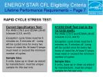 energy star cfl eligibility criteria lifetime performance requirements page 729