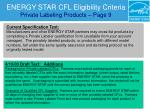 energy star cfl eligibility criteria private labeling products page 9