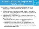 energy star cfl program and pearl testing