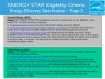 energy star eligibility criteria energy efficiency specification page 3
