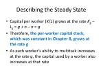 describing the steady state23