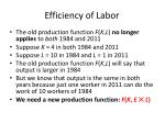 efficiency of labor12
