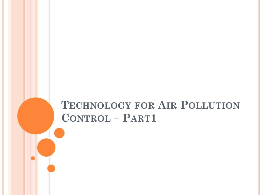 technology for air pollution control part1 l.