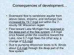 consequences of development