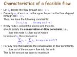 characteristics of a feasible flow