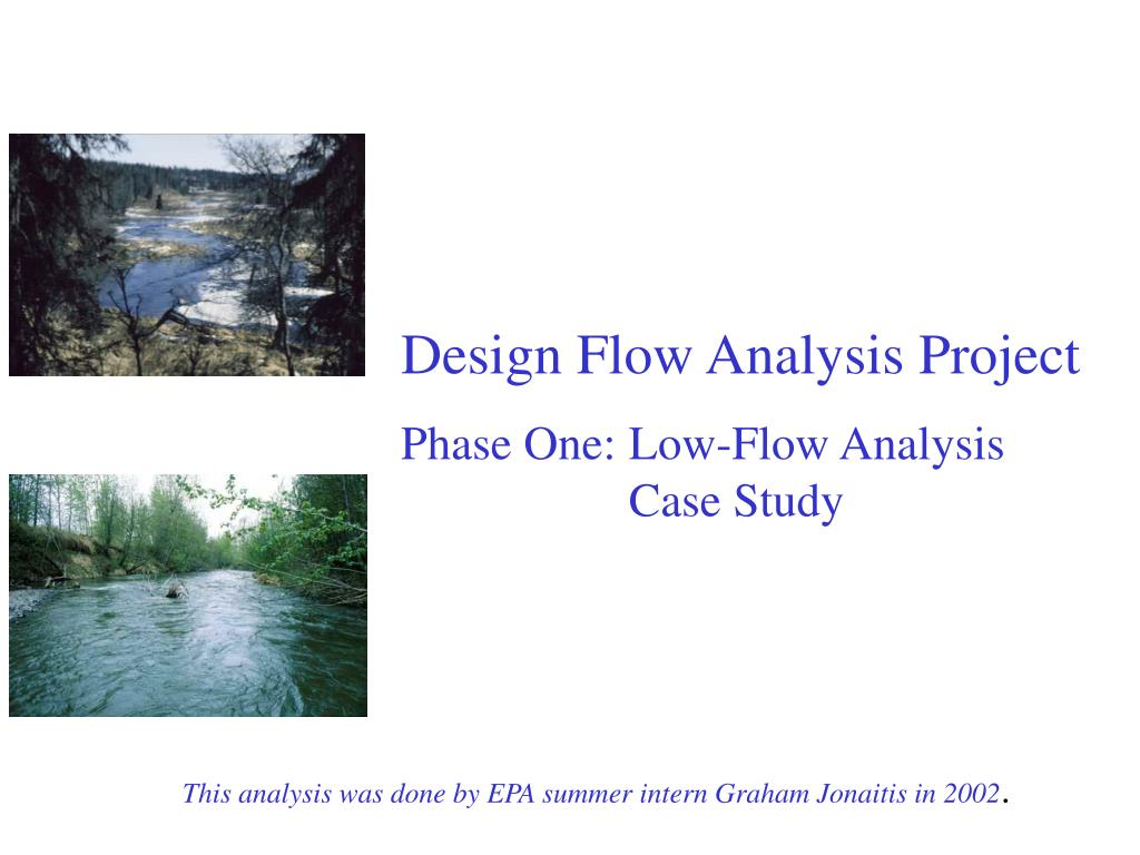 design flow analysis project phase one low flow analysis case study l.