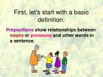 first let s start with a basic definition