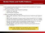 border points and traffic patterns