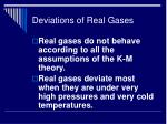deviations of real gases