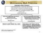 determining risk provision15