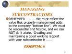 managing subcontractors