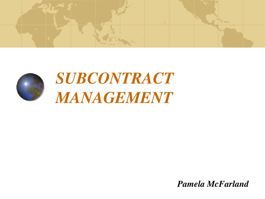 subcontract management l.
