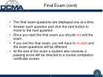 final exam cont