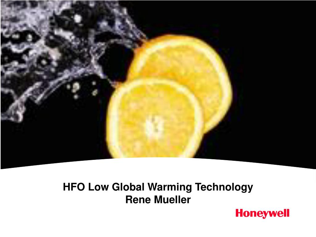 hfo low global warming technology rene mueller l.