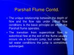 parshall flume contd