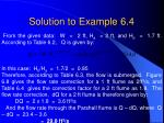 solution to example 6 4