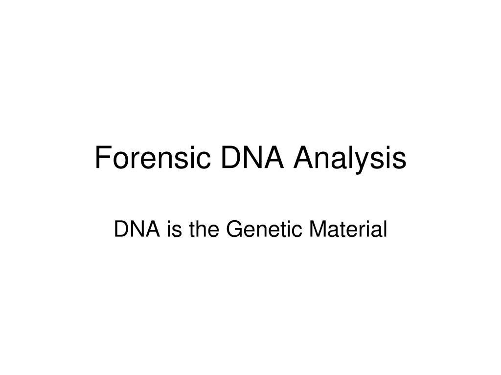 forensic dna analysis l.