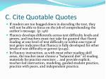 c cite quotable quotes