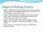 stages of reading fluency