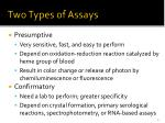 two types of assays