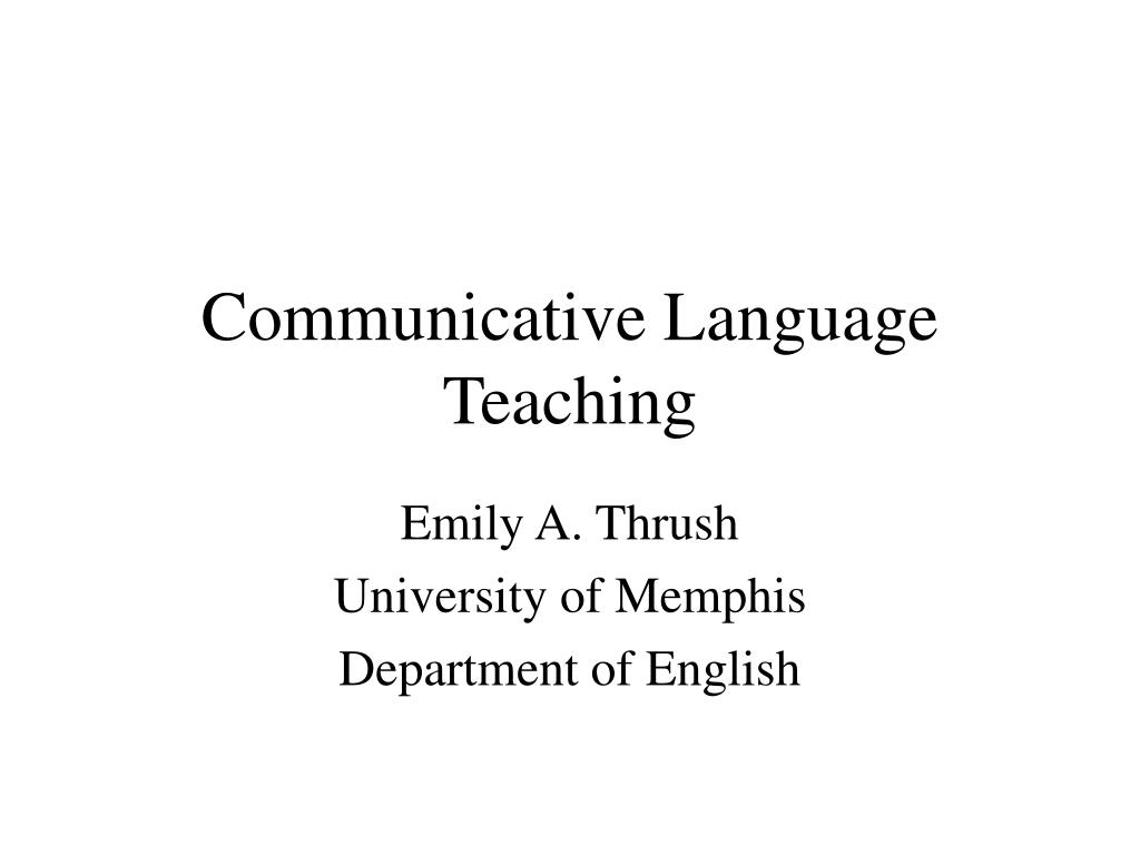 communicative language teaching l.