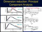 dimension reduction principal component analysis