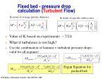 fixed bed pressure drop calculation turbulent flow21