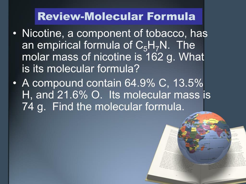review molecular formula l.