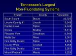 tennessee s largest non fluoridating systems