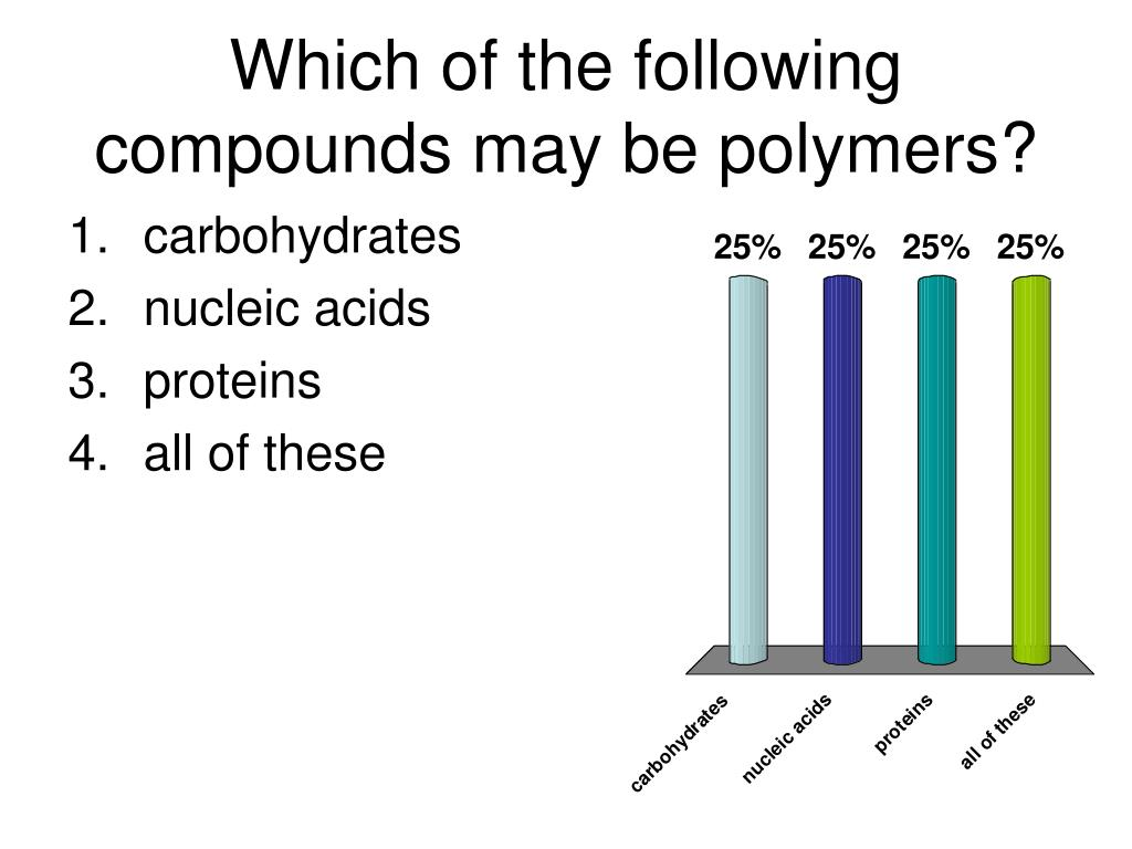 which of the following compounds may be polymers l.