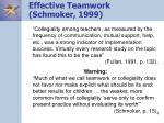 effective teamwork schmoker 1999