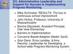 iii administrative leadership and support for success in implementing progress monitoring4